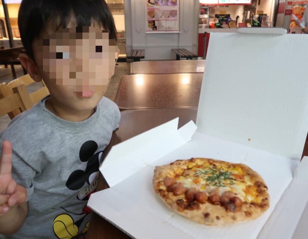 長男とらクンのピザ屋の仕事の成果