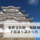 姫路城に行った