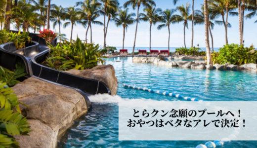 2020年1月ハワイ旅行⑥午前中は家族用プール&スライダー♪午後はドライブで、おやつは人気のアレで決まり!